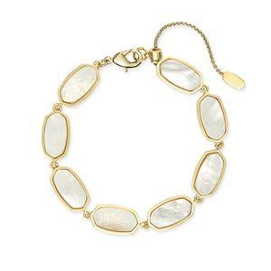 NWT Kendra Scott Millie Bracelet Gold/Ivory